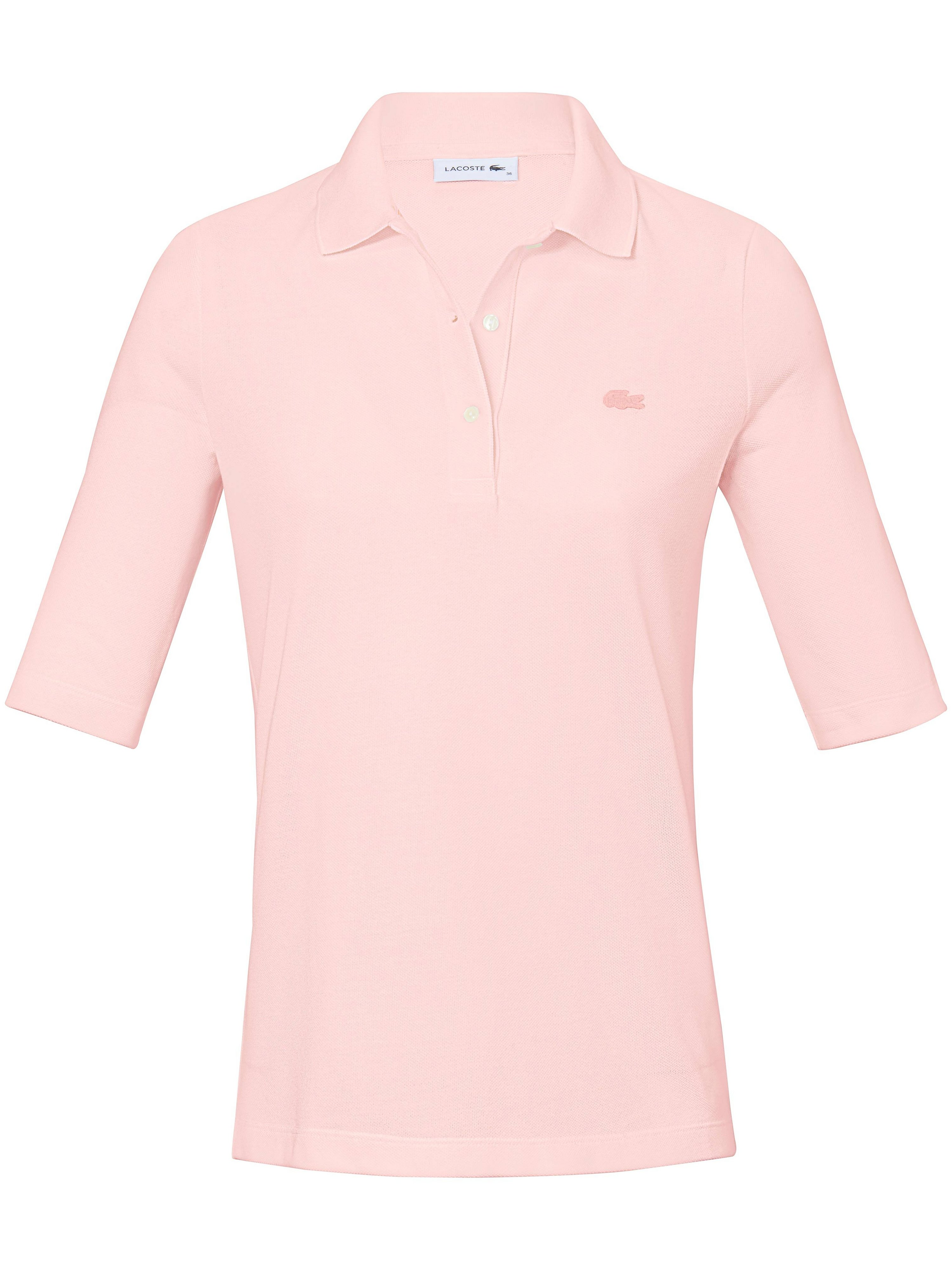 Poloshirt 1/2-lange ærmer 100% bomuld Fra Lacoste rosé