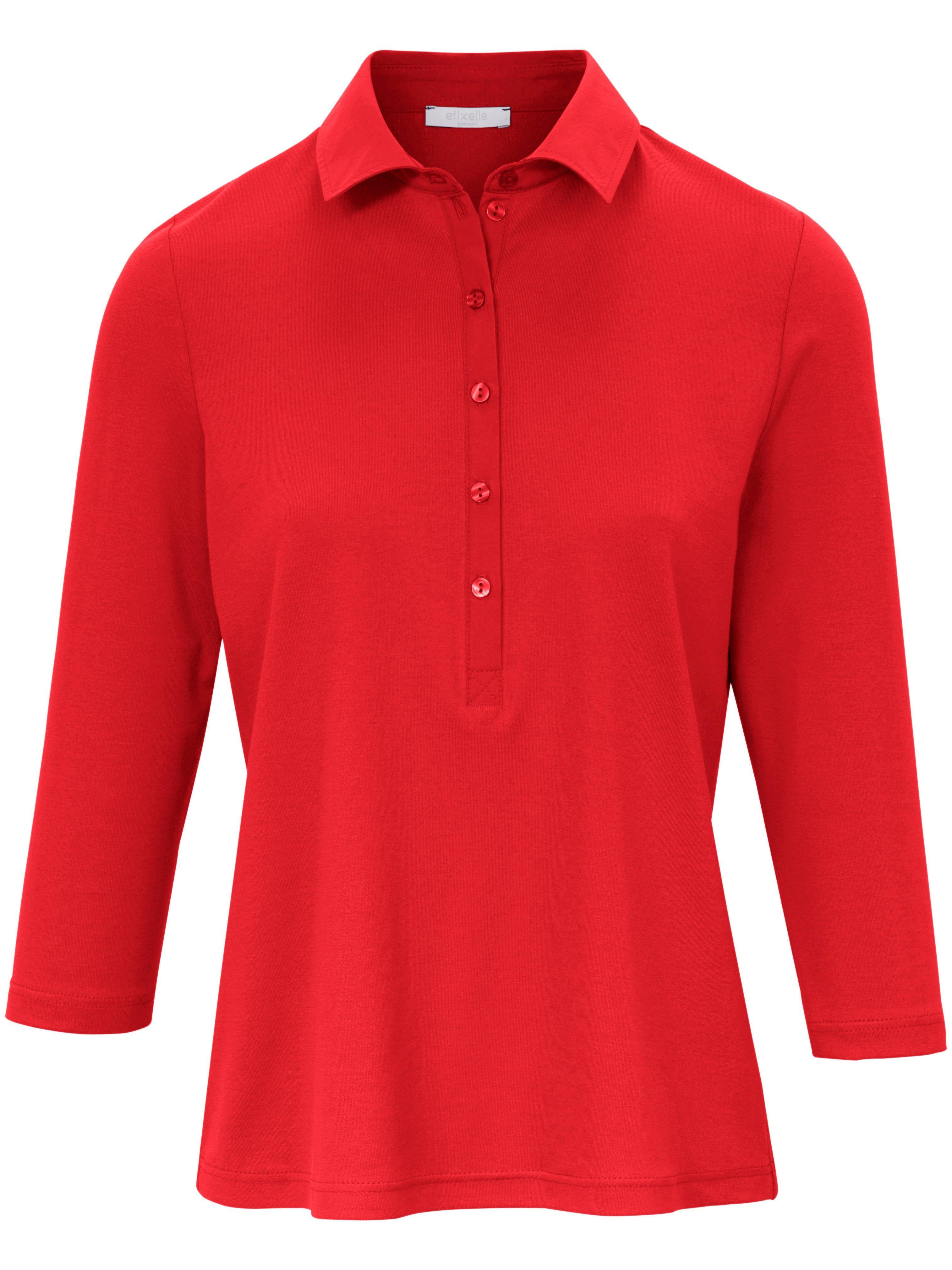 Damen Polo-Shirt 3/4-Arm Efixelle rot | Plus Size |