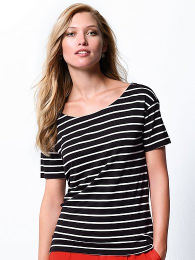 Bogner - Striped round neck top with short sleeves