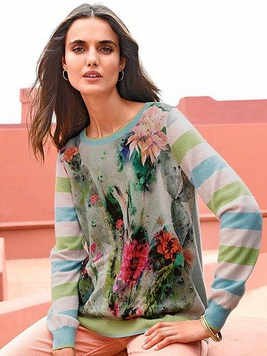 Cashmere Victim - Rundhalsad tröja modell Mona med lång ärm
