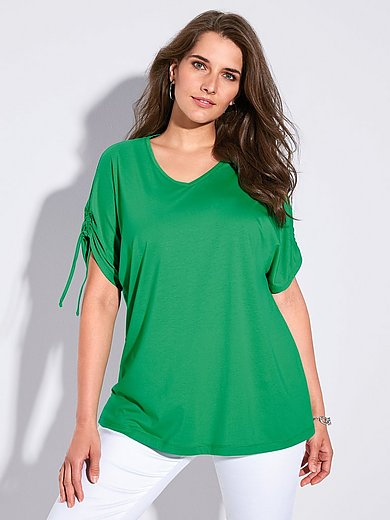 FRAPP - Shirt mit V-Ausschnitt