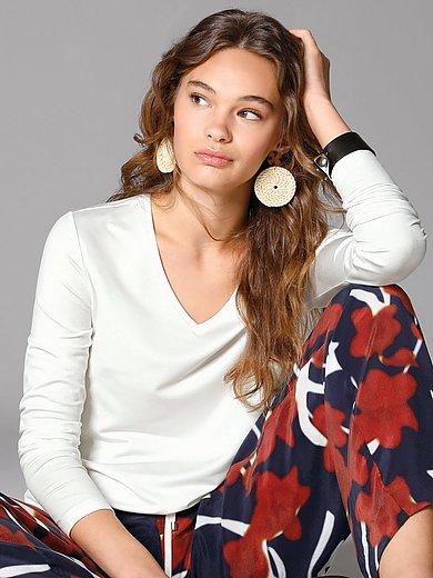 Margittes - Shirt met V-hals en lange mouwen