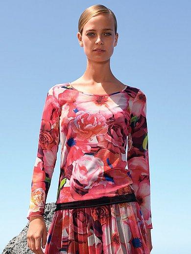 Margittes - Bluse med rund hals og blomsterprint
