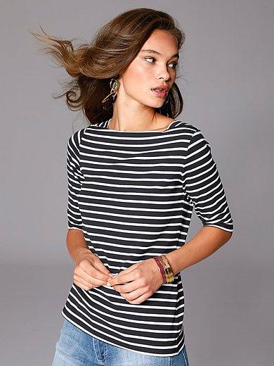 comma, - Shirt met carréhals en halflange mouwen