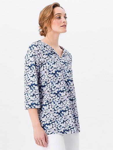 Green Cotton - Shirt van 100% katoen met V-hals en bloemenprint
