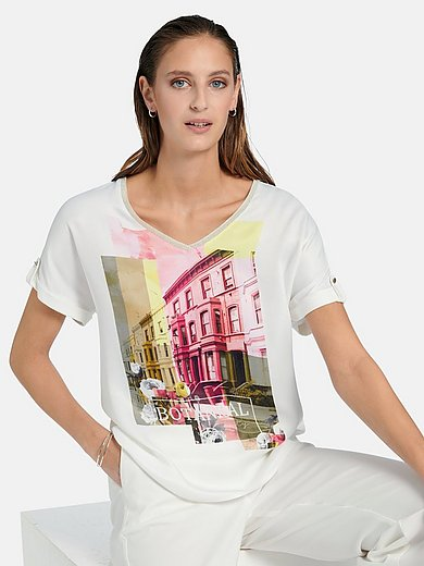 Gerry Weber - V-neck shirt with short sleeves