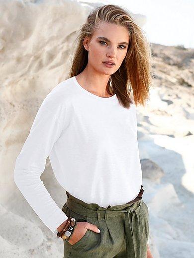 ZAIDA - Shirt van 100% linnen met ronde hals