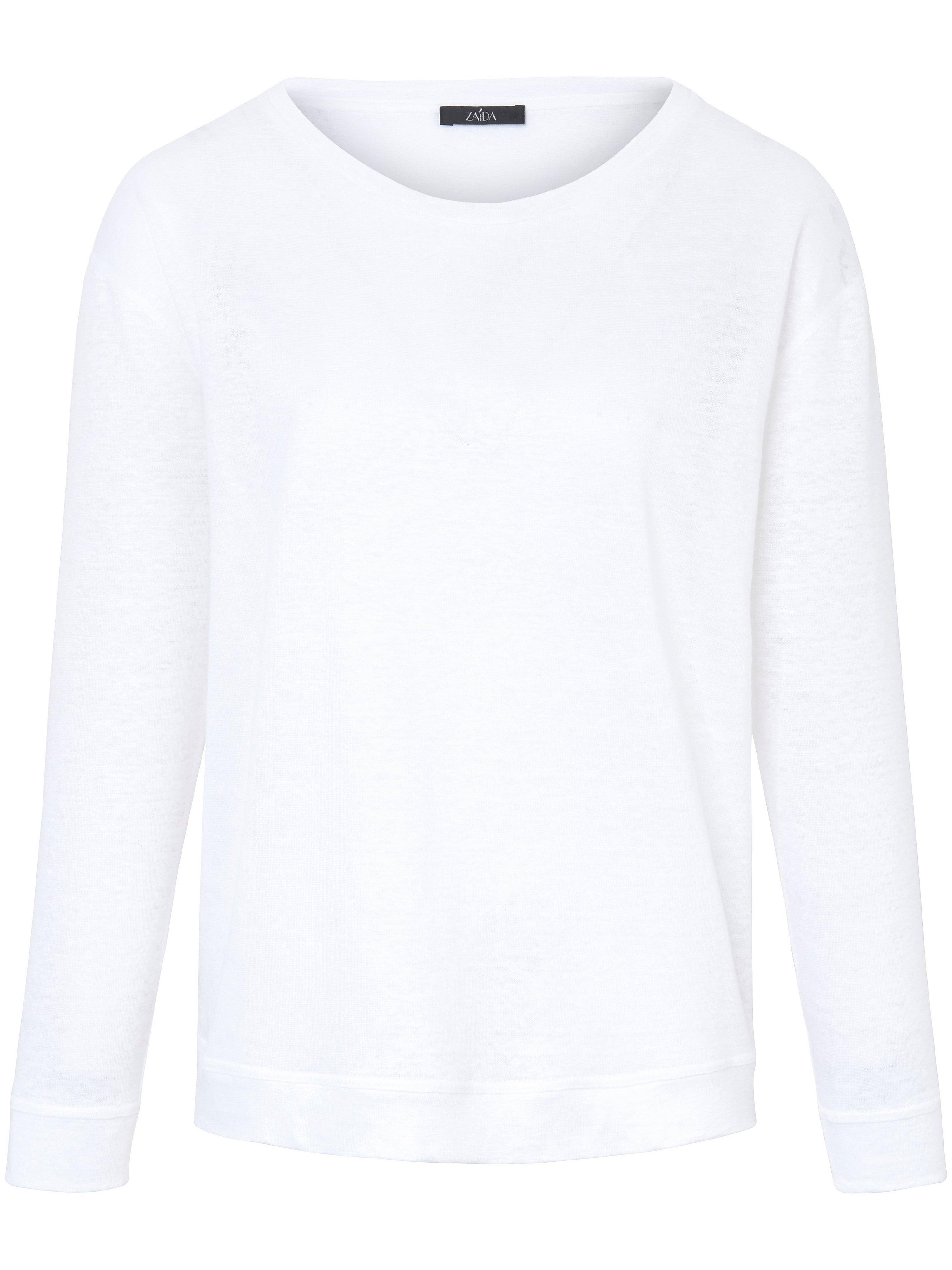 Le T-shirt 100% lin  ZAIDA blanc taille 44