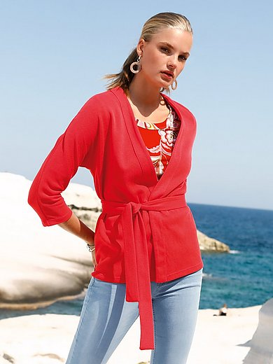 ZAIDA - Cardigan with V-neck and 3/4-length sleeves