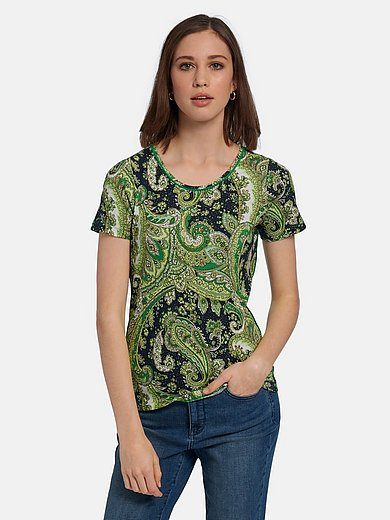 Peter Hahn - Round neck top with lovely paisley prints