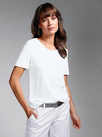 MAERZ Muenchen - Shirt van 100% linnen met ronde hals