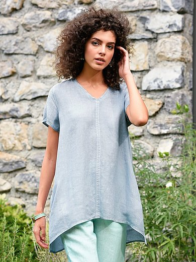 elemente clemente - Blouse in 100% linen with short sleeves