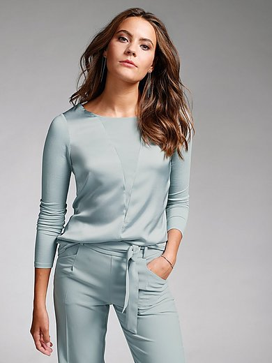 comma, - Round neck top with long sleeves