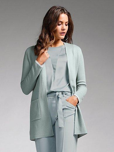 comma, - La longue veste avec ceinture à nouer