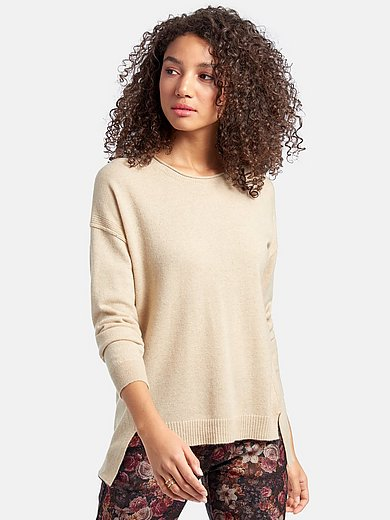 Peter Hahn Cashmere Nature - Round neck jumper with long sleeves