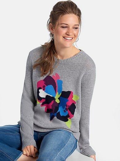 FLUFFY EARS - Rundhals-Pullover aus 100% Premium-Kaschmir