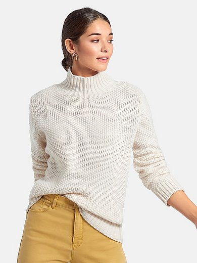 include - Le pull col cheminée 100% cachemire