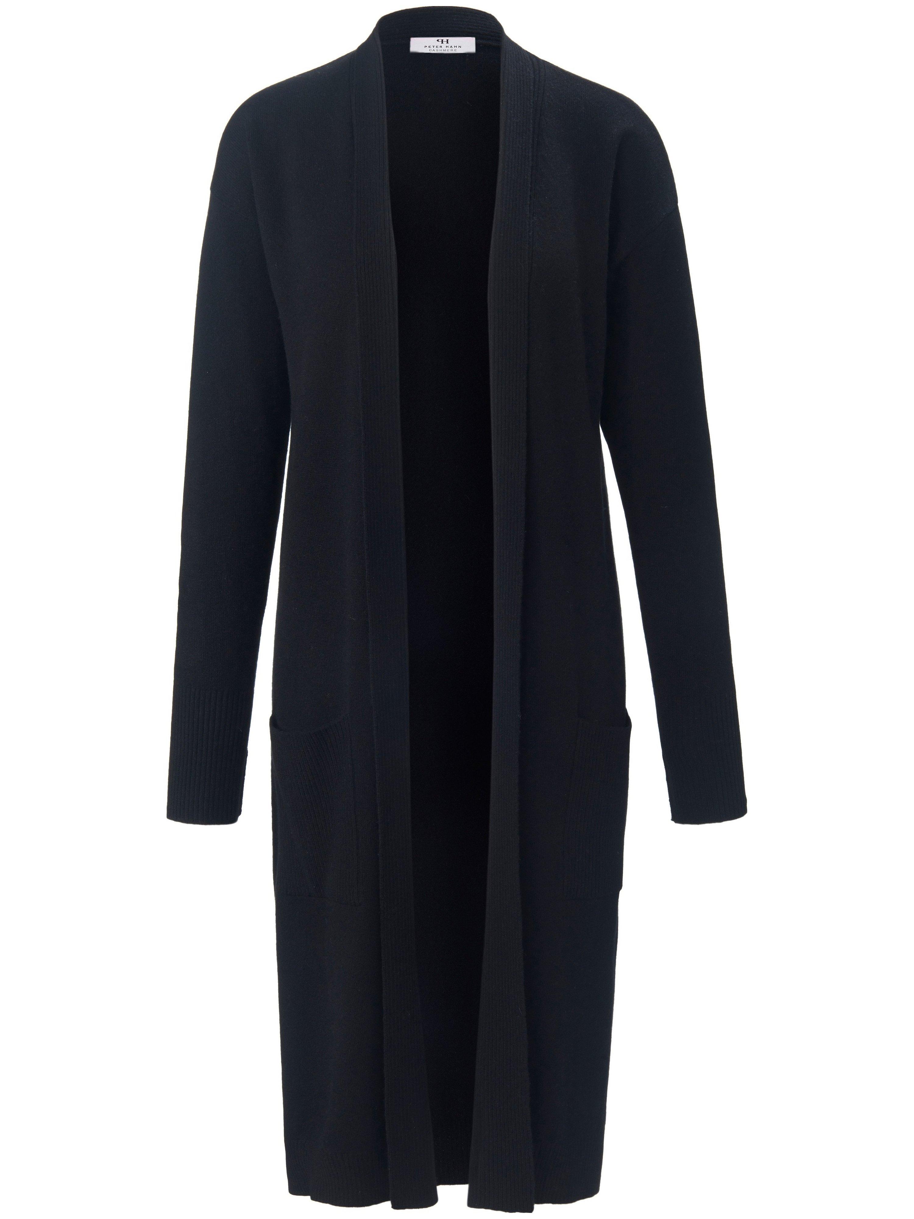 Le manteau en maille 100% cachemire  Peter Hahn Cashmere noir