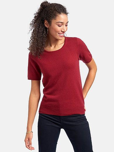 Peter Hahn Cashmere - Round neck jumper with short sleeves