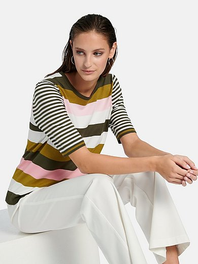 Gerry Weber - Round neck jumper with short sleeves