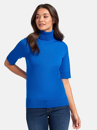 Peter Hahn - Roll-neck jumper with short sleeves