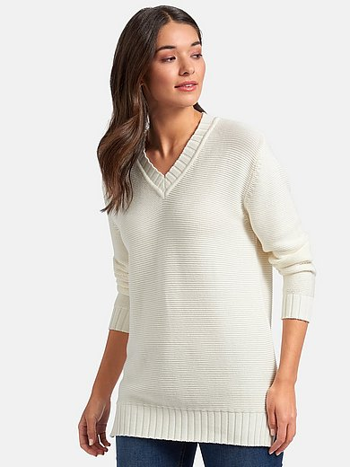 Peter Hahn - V-neck jumper with long sleeves