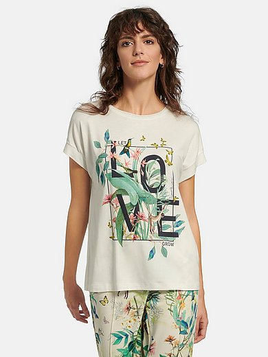 Gerry Weber - Round neck top with exotic print