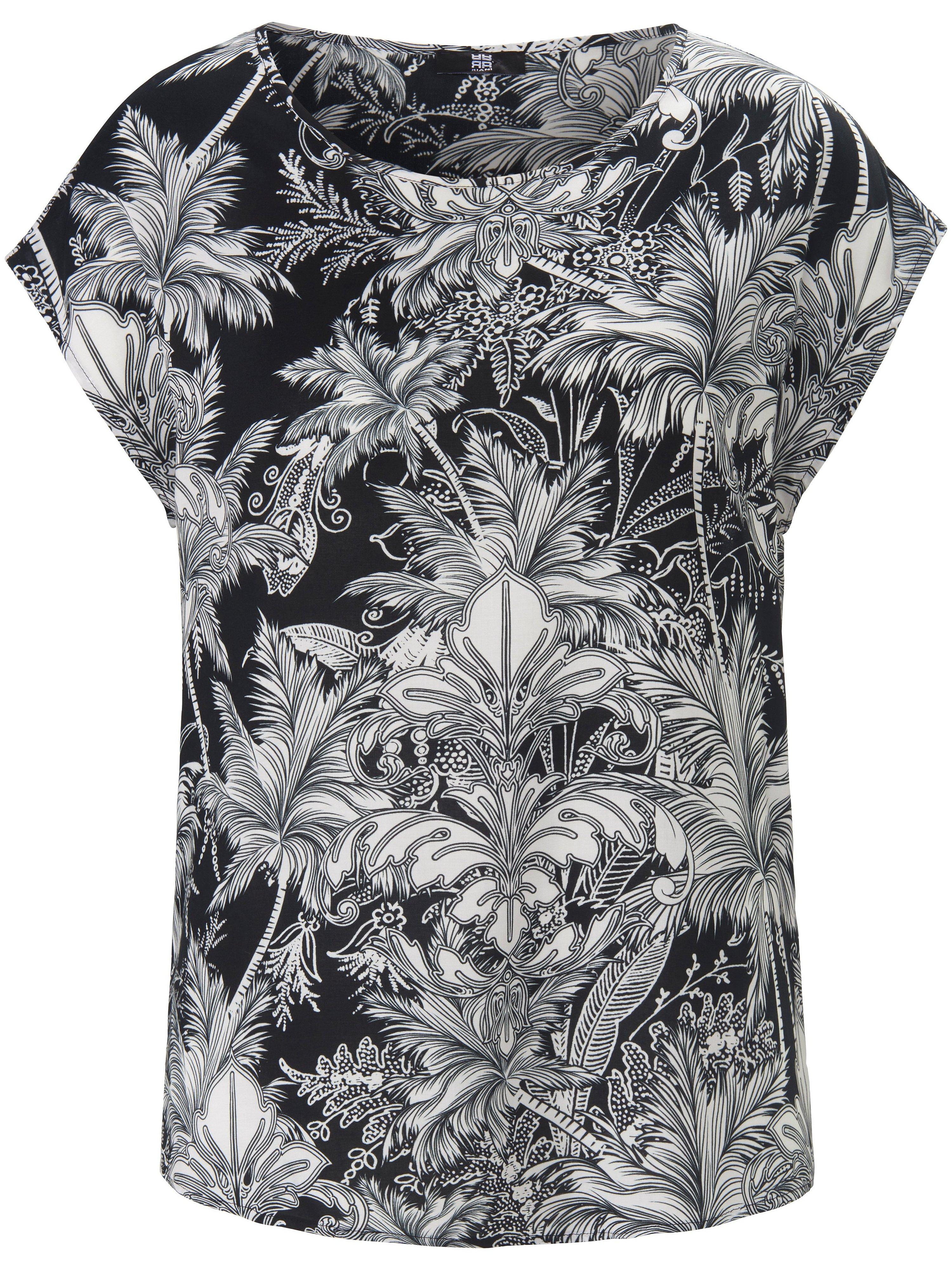 Shirt filigraan verwerkte bloemenprint Van Riani zwart