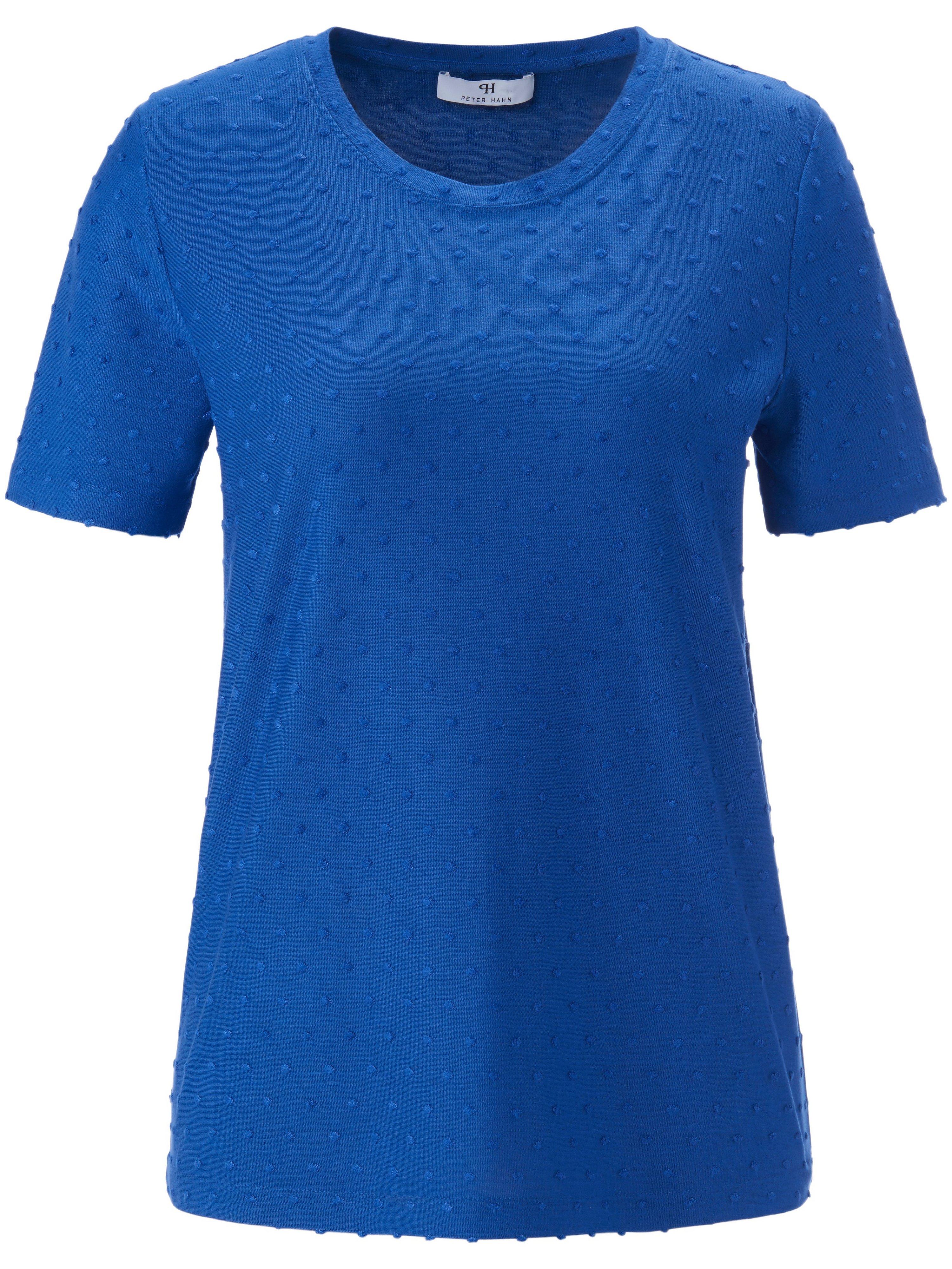 Shirt ronde hals en korte mouwen Van Peter Hahn blauw