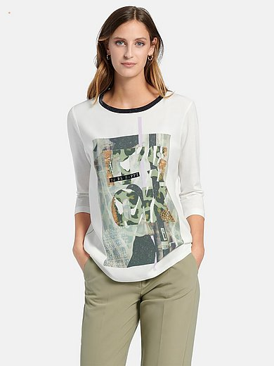 Marc Aurel - Round neck top with 3/4-length sleeves