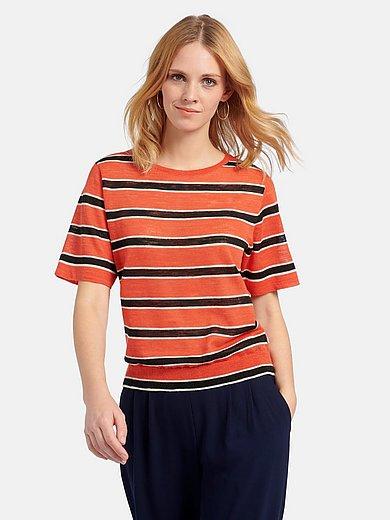 MAERZ Muenchen - Gebreid shirt met ronde hals en korte mouwen