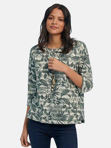 Green Cotton - Shirt van 100% katoen met ronde hals en 3/4-mouwen