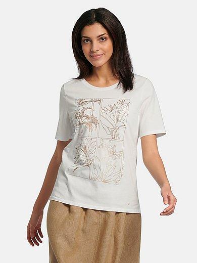 Brax Feel Good - Shirt van 100% katoen met ronde hals