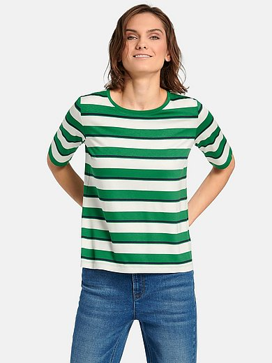 teeh`s - Round neck top with longer 1/2-length sleeves