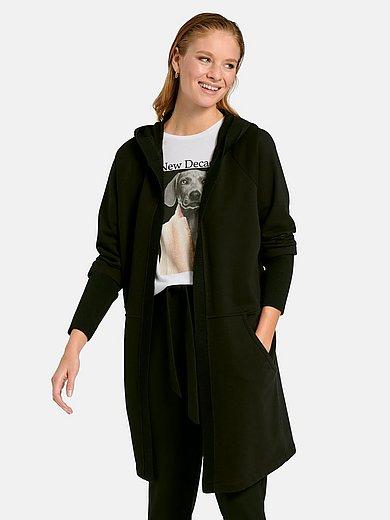 Margittes - Lang hoodie-jakke med lange ærmer