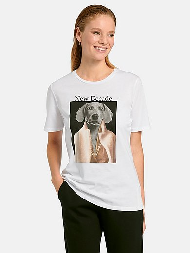 Margittes - Rundhals-Shirt aus 100% Baumwolle Pima Cotton