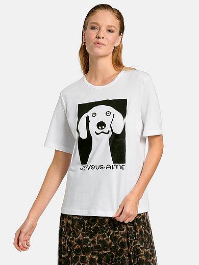 Margittes - T-shirt med rund hals og korte ærmer