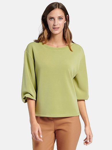 comma, - Sweatshirt met verlaagde schoudernaden en boothals