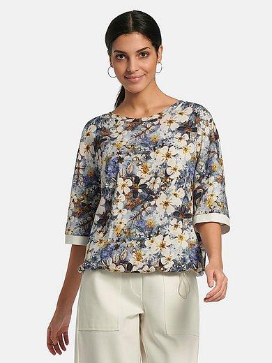 Margittes - Sweatshirt with 3/4-length turn-up sleeves