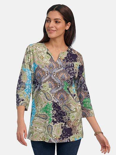 Green Cotton - Splitneck-Shirt mit 3/4-Arm