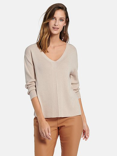 comma, - V-neck jumper with long sleeves