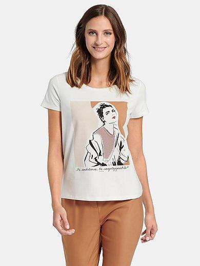 comma, - Shirt met ronde hals en korte mouwen