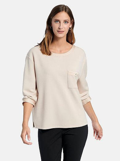 comma, - Sweatshirt met 7/8-mouwen en boothals