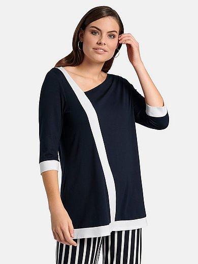 Doris Streich - Lang shirt met 3/4-mouwen en colourblocking
