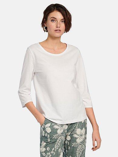 Green Cotton - Round neck top in 100% cotton