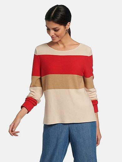 Lanius - Round neck jumper in 100% cotton