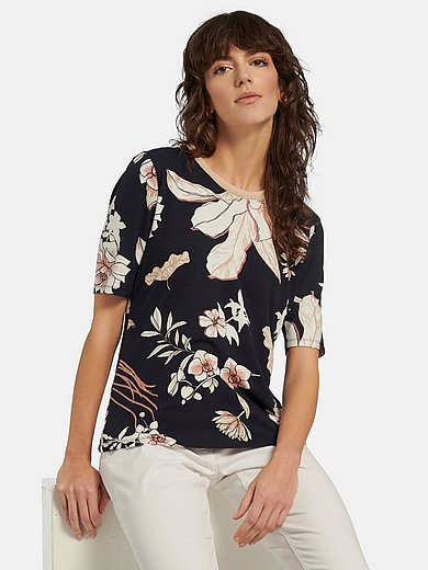 Betty Barclay - Round neck top with short sleeves and floral print