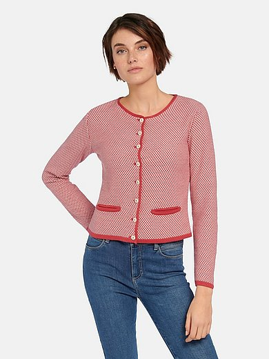 Hammerschmid - Long-sleeved cardigan with jacquard pattern