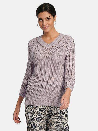 oui - V-ringad tröja med 3/4-ärmar