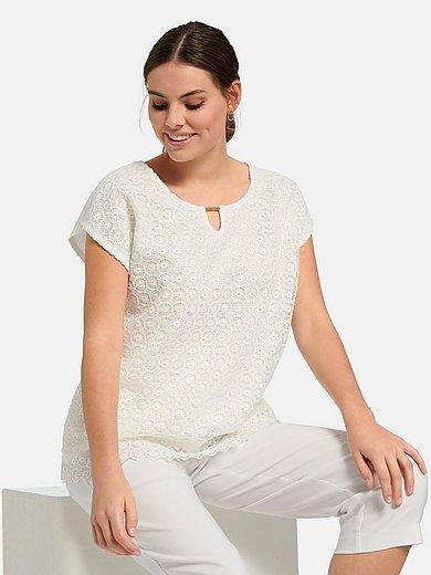 Via Appia Due - Shirt met ronde hals en aangeknipte mouwen